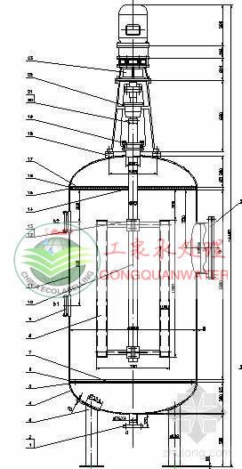 改性纤维球过滤器设计图纸: 纤维过滤器_石家庄工泉水处理设备有限